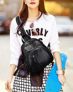 Fashion Mini Casual Bags PU Women Backpacks B21 38dcd94e60796