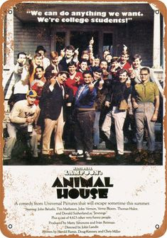 National Lampoon's Animal House Release date: July 1978 (USA) Director: John Landis Cast: John Belushi, Kevin Bacon, Tim Matheson, . 80s Movies, Comedy Movies, Great Movies, Movie Tv, Awesome Movies, Movies Showing, Movies And Tv Shows, National Lampoon's Animal House, John Landis