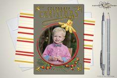 Retro Christmas Ornament / Christmas Photo by caroleeXpressions