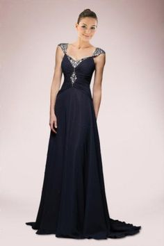 Luxurious Mother of the Brides Dress with Crystals | Bridalpure.com