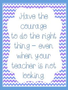 A poster that I designed to hang up in class to help remind students to take control of their own actions and to be good even when they think no one is watching. Three color combinations to choose from. *Borders by: Teacher Mhttp://www.teacherspayteachers.com/Product/Cute-Free-Borders*Fonts by: Cara Carrollhttp://www.teacherspayteachers.com/Product/Font-Fun-Volume-2