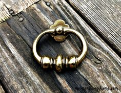Vintage Brass Knocker Style Drawer Pull by MagialBeansHome.com