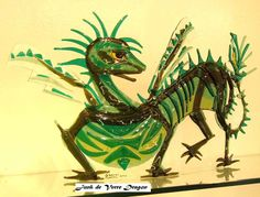 How to make a dragon.  Product Lines of Studio Glass by Sharon Laska Ltd Canadian Handcrafted Fused Art Glass