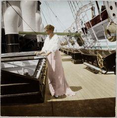 Empress Alexandra Fyodorovna Romanova of Russia aboard imperial yacht Standart.
