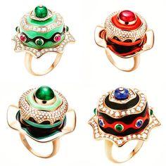 #bulgari rings #cakerings #dataintherough #jewelryblogger #bulgarijewelry #bvlgariring #highjewelry #highjewellery #italianjewelry
