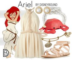 DisneyBound is meant to be inspiration for you to pull together your own outfits which work for your body and wallet whether from your closet or local mall. As to Disney artwork/properties: ©Disney Disney Bound Outfits Casual, Disney Princess Outfits, Disney Dress Up, Disney Themed Outfits, Disney Prom, Disney Clothes, Disney Inspired Fashion, Disney Fashion, Scene Outfits