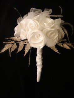 Bridal Bouquet Winter White  Made to Order by BeStillMyHeartBridal,