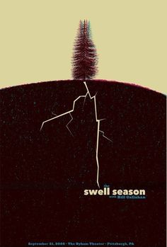 LAST copy - The Swell Season Silkscreen Rock Poster -