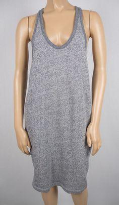 T ALEXANDER WANG Dress S Two Tone Gray Comfy Travel Fleece Jersey Knit Summer