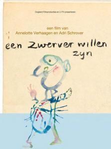 Hoes van documentaire 'Een zwerver willen zijn' over de kunst en het leven van Marianne van der Heijden. Documentaire is gemaakt in 2013.