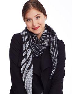 Yarnspirations.com - Caron Oblique Kerchief - Patterns  | Yarnspirations