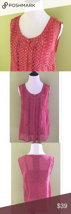 Selling this 41 Hawthorn Sheer Button Down Sleeveless Blouse on Poshmark! My username is: davias_closet. #shopmycloset #poshmark #fashion #shopping #style #forsale #41 Hawthorn #Tops
