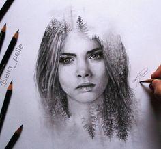Fascinating Drawing Works by Italian Artist Elia Pellegrini