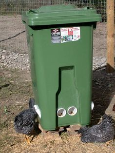 INSTRUCTIONS FOR BUILDING A 6 STATION, ROLLING CHICKEN FEEDER: Mix up a batch of plaster and...