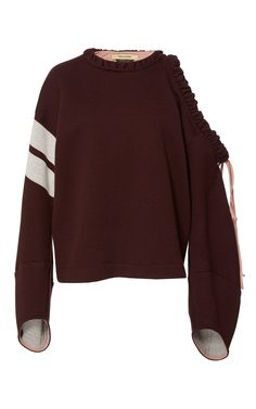 Hellessy Fall 2017 Ready-to-Wear Collection (Patti Frill Shoulder Sweatshirt)