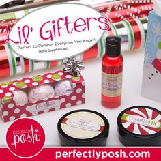 Perfectly Posh Lil' Gifters!  Follow my blog at www.poshwithaimee.com and join my team at www.perfectlyposh.com/aimee