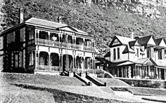 South End House, St.before linking it to 'Seahurst', right, to form the Seahurst Hotel, early Old Photos, Vintage Photos, Cape Dutch, Present Day, Cape Town, South Africa, The Good Place, Old Things, Mansions