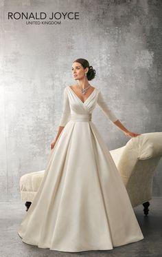 #newarrival alert! Stunning new #Ronald Joyce 69155 'Andrea'  #Ballgown #Satin #weddingdresses