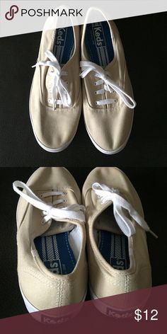 Cream & White Keds Cream & White Keds keds Shoes Sneakers