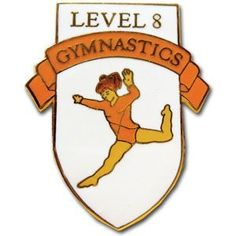 Level 8 Gymnastics Pin . $4.50