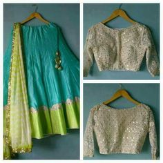 Lovely Rawsilk #Lehenga and Blouse