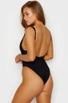 STYLE: Maillot ribbed button up front one-piece swimsuit in black Made with Frankies signature lux rib knit stretch swim fabric. Deep scooping neckline with three button closure allows you to decid. Black Swimsuit, Black Bikini, One Piece Swimsuit, Swimwear Brands, Designer Swimwear, Bikini Luxe, Bikinis For Sale, Ribbed Fabric, Swimsuits