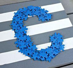 Puzzle piece monogram