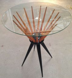 Giussepe Scapinelli; 'Mesinha Catedral' Side Table, 1960s.