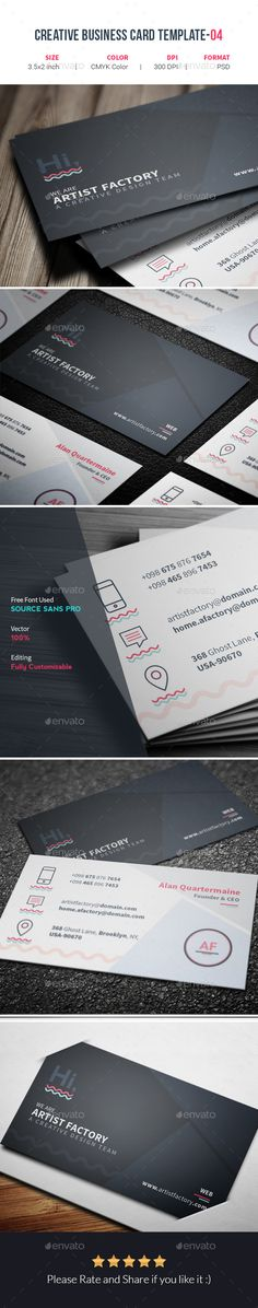 Intenseartisan creative business card vol 19 business cards card intenseartisan creative business card vol 19 business cards card templates and business reheart Images