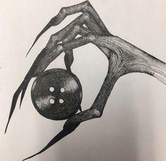 Coraline Art, Horror Drawing, Creepy Drawings, Sketches, Cool Art Drawings, Art Sketchbook, Drawings, Art, Aesthetic Art