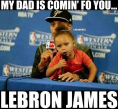 NBA Finals: Here's your Game 1 dose of Riley Curry - zander - Basketball Funny Nba Memes, Funny Basketball Memes, Funny Sports Quotes, Basketball Is Life, Sport Quotes, Stupid Funny Memes, Curry Basketball, Hilarious, Basketball Relationships