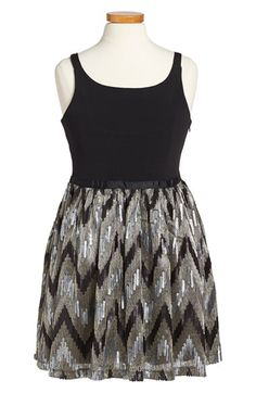 Free shipping and returns on Elisa B 'Cami' Dress (Big Girls) at Nordstrom.com. A simple fitted bodice is paired with a sequined zigzag skirt that will make her feel like she's the star of the show.