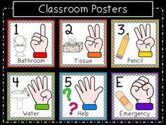 Hand Signal Classroom Pack