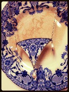 Peek Inside My Studio: Broken China Statement Necklace