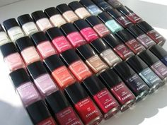 Chanel nail polish - what the display in my office looks like. Yes, I'm obsessed.
