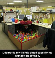 Great office birthday idea