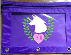 Back to School, Monogram,Horse, Western, Equestrian, Personalized Pencil Pouch, Binder Pouch, Many colors available by PersonalizedbyDawn on Etsy https://www.etsy.com/listing/465532599/back-to-school-monogramhorse-western