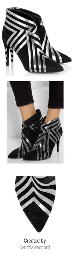 Pierre Hardy | FW 2014 | Suede and metallic leather ankle boots | cynthia reccord