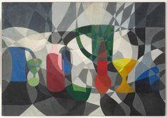 Willys de Castro . Sem título, 1952, óleo sobre papel e eucatex, 68 x 100 cm (Foto: Divulgação)