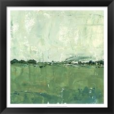 Title: Vista Impression II Description: A beautiful green field with big cloudy skies in the background Color: Celery green, white, dark green Artist: Ethan Harper