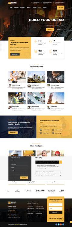 建築/重機土木サービス/ビジネスの為のワードプレステーマ【Buildbench】 | studioDoghands