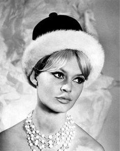 Brigitte Bardot + hat by Christian Dior.