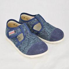 Detské papuče JEANS polootvorené