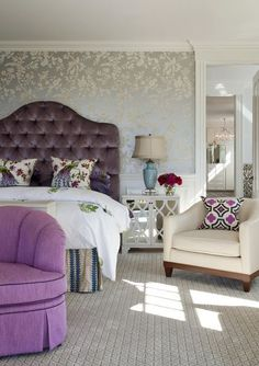 Get Inspired: Wallpaper Behind the Bed