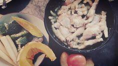 My menu : kai neung ta-krai Kai, Menu, Chicken, Food, Menu Board Design, Meals, Yemek, Menu Cards, Buffalo Chicken