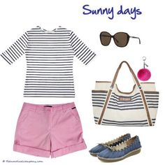 Breton top with shorts  perfect for the beach #NAUTICAL