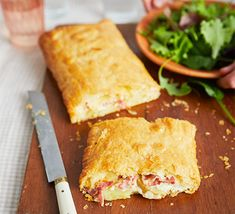 Try this easy ham, cheese and potato pie, which you can make with just five ingredients. Make a family meal of it by serving with a green salad Cheese And Potato Pie, Cream Cheese Spinach, Cheese Potatoes, Cream Cheese Chicken, Ham And Cheese, Turkey And Ham Pie, Bbc Good Food Recipes, Ham Recipes, Savoury Recipes