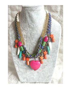Nuevo modelo de collar étnico, color y más color .18€. #dbcomplementos #etnico #collar #modamujer #complements #complementos