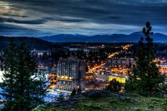 Night time in Coeur d' Alene, Idaho | Favorite Places ...