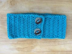 Handmade Blue Ear Warmer with Buttons by OliveBegonia on Etsy